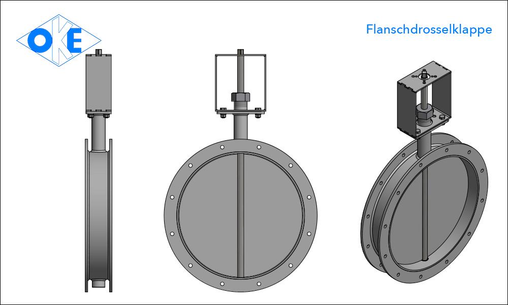 flanschdrosselklappe Hersteller OKE